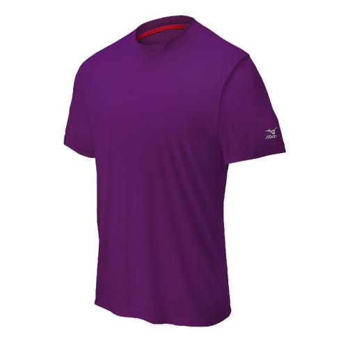 Mizuno Men's Comp Short Sleeve Crew- Purple