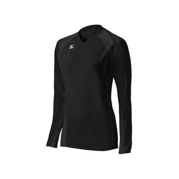 Mizuno Women's Techno Volley V Long Sleeve Jersey - Black