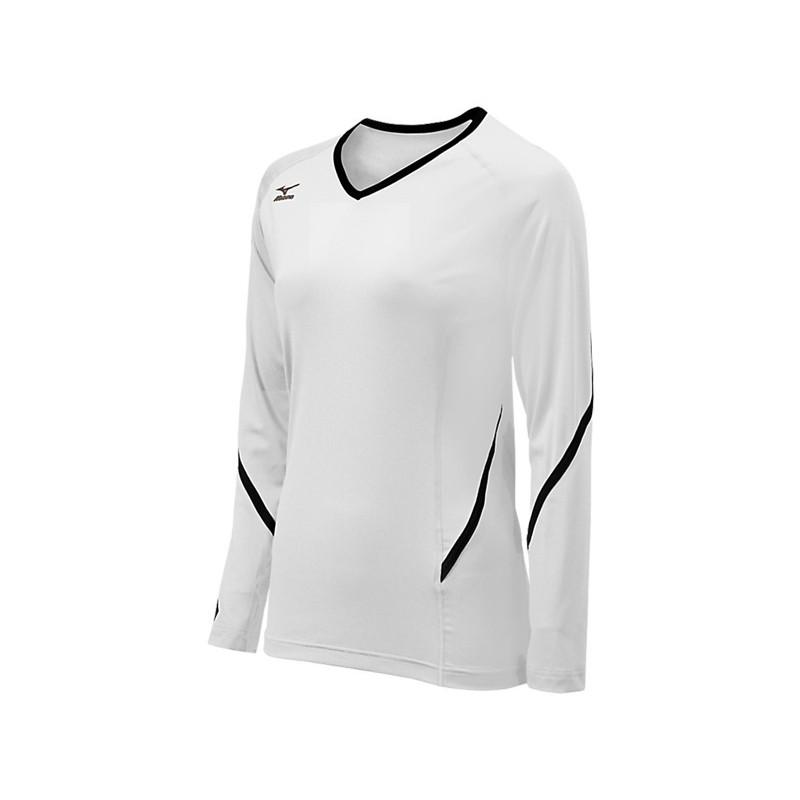 Mizuno Youth Techno Generation Long Sleeve Jersey - White/Black