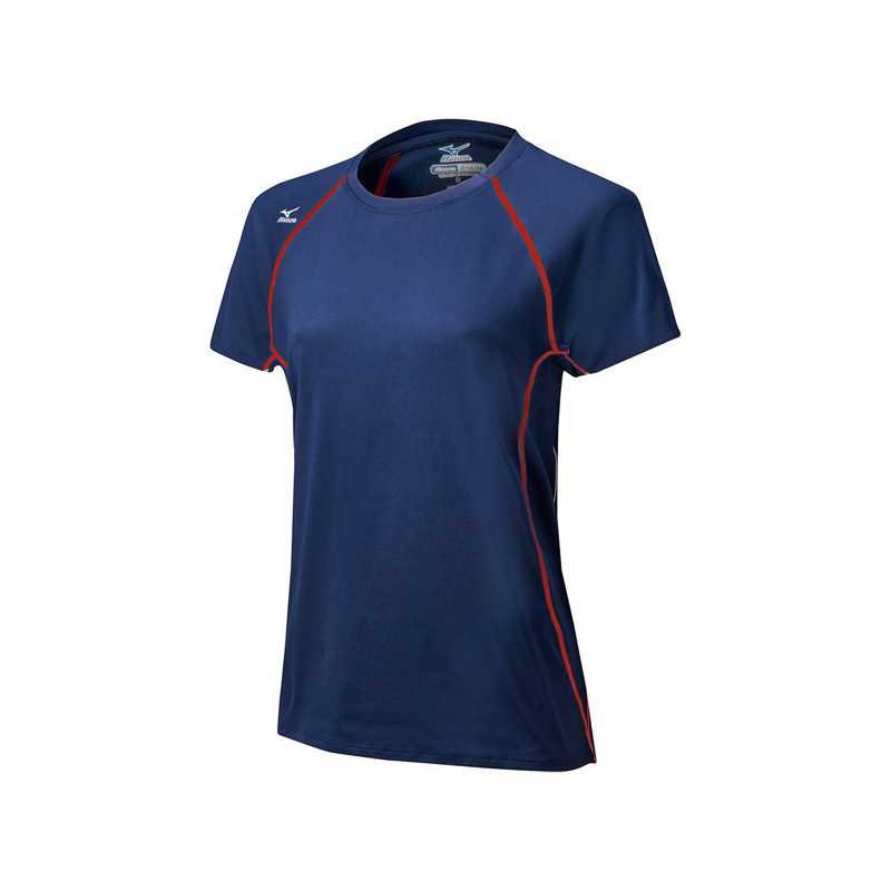 Mizuno Youth Balboa 3.0 Short Sleeve Jersey - Navy/Red