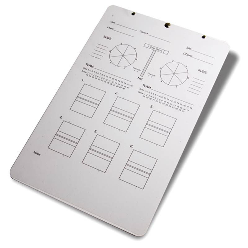 Coaches' Deluxe Volleyball Clipboard- Back