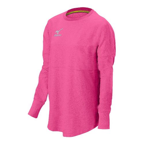 Mizuno Women's Hitter's Pullover- Heathered Pink