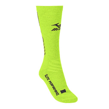 Mizuno Elite 9 Legacy Crew Sock - Lemon/Black
