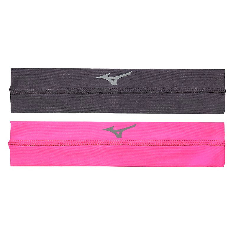 Mizuno Viktory Headbands- Charcoal/Shocking Pink
