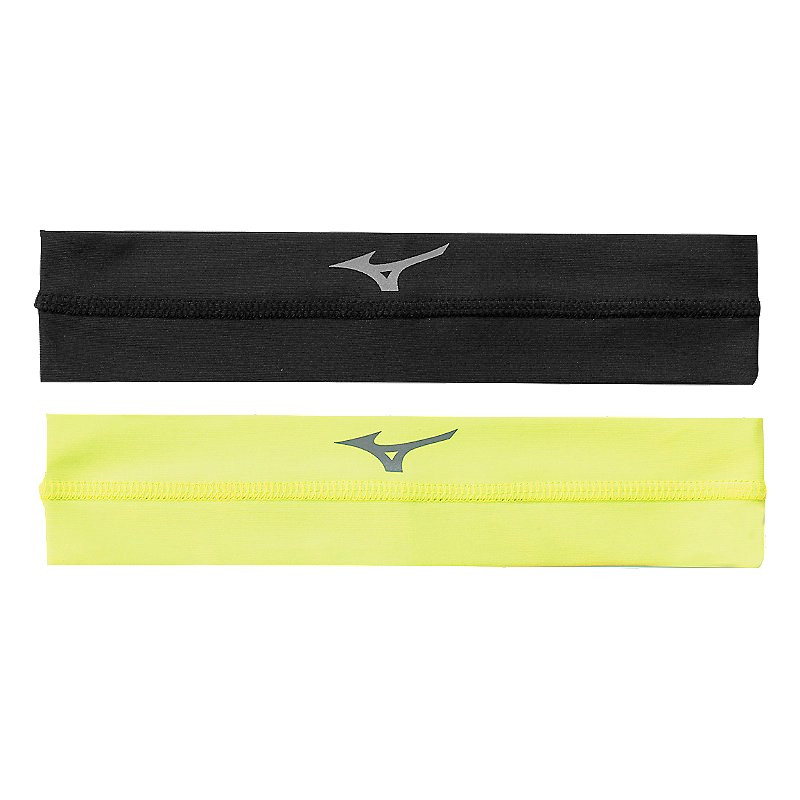 Mizuno Viktory Headbands- Black/Lemon