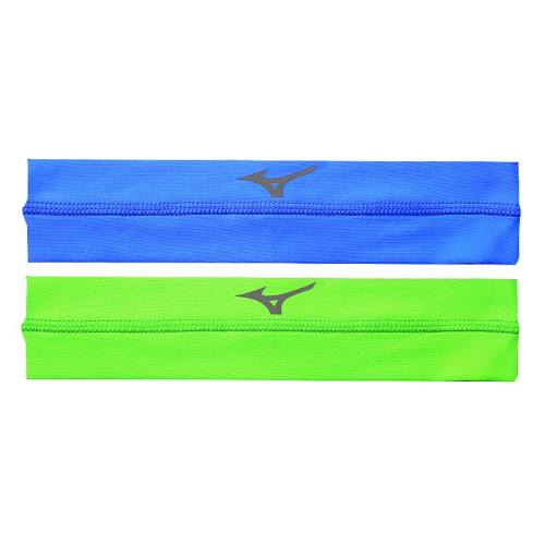 Mizuno Viktory Headbands- Diva Blue/Electric Green