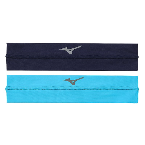 Mizuno Viktory Headbands- Navy/Columbia Blue