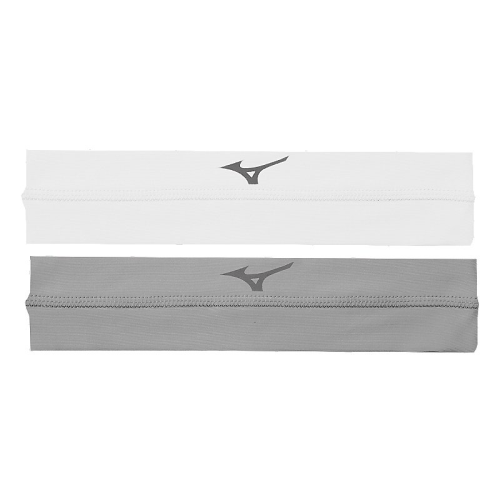 Mizuno Viktory Headbands- White/Grey