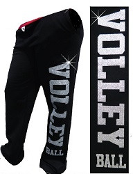 Glitter Volleyball Sweatpant- Black