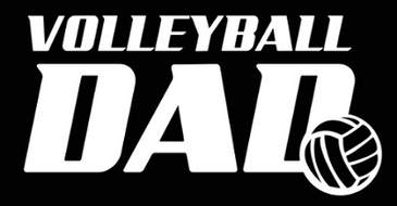 Volleyball Dad Decal