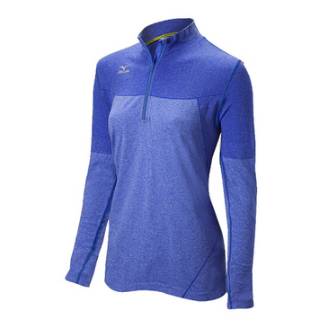 Mizuno Women's Seamless Jacket - Heathered Royal