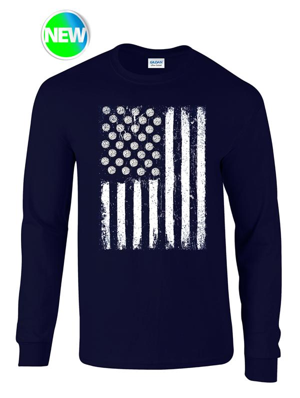 USA VB Flag- Black Heather