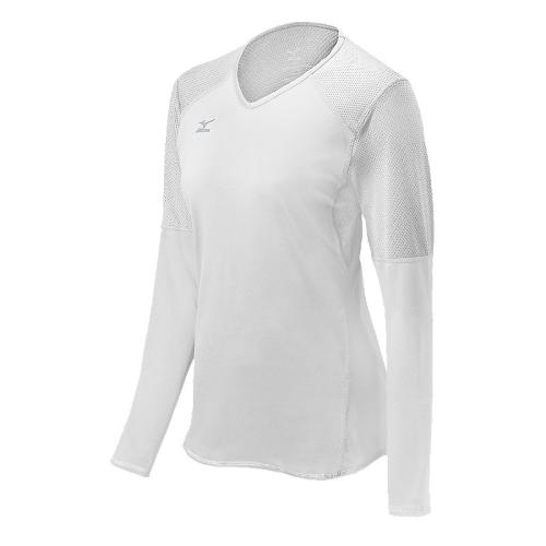 Mizuno Women's Techno Volley VI LS Jersey- White