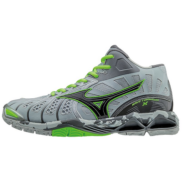 Mizuno Women's Wave Lightning Z3 - Grey/Green Gecko