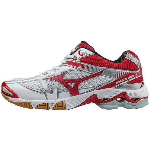 Mizuno Wave Bolt 6 White/Red Women