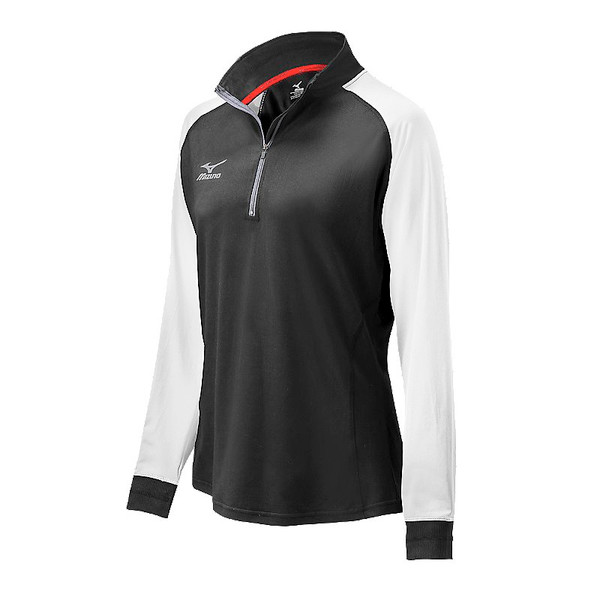 Mizuno Youth Elite 9 Prime 1/2 Zip Jacket - Black/White