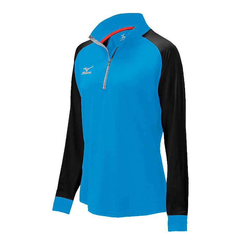Mizuno Youth Elite 9 Prime 1/2 Zip Jacket - Diva Blue/Black
