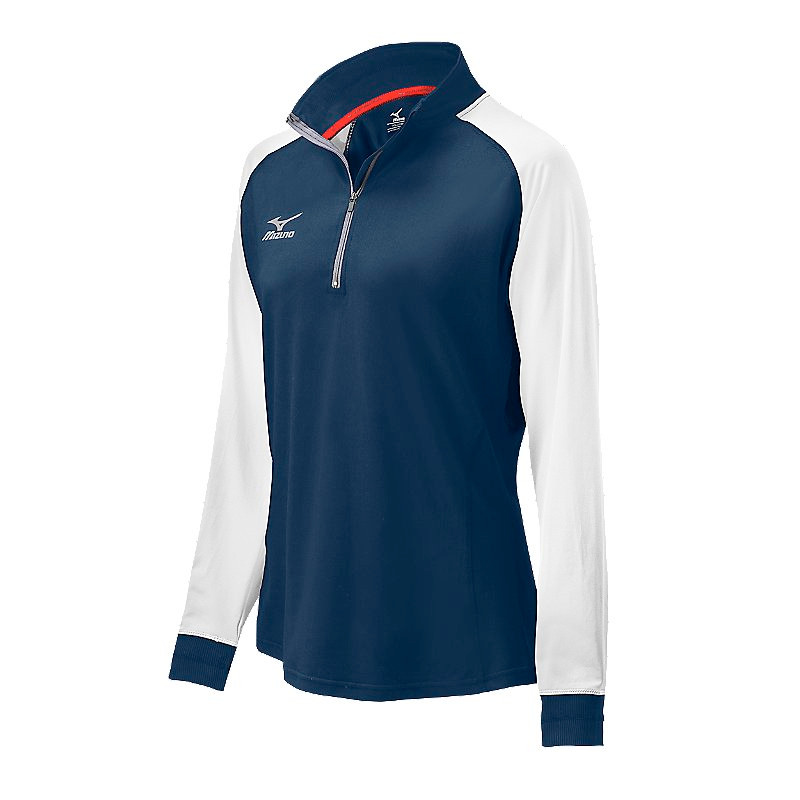 Mizuno Youth Elite 9 Prime 1/2 Zip Jacket - Navy/White