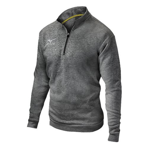 Mizuno 1/2 Zip Fleece Pullover- Heathered Charcoal