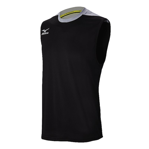 Mizuno Men's Cutoff Jersey- Black/Silver