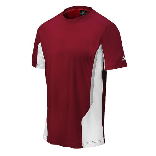 Mizuno Men's Elite Crew- Cardinal/White