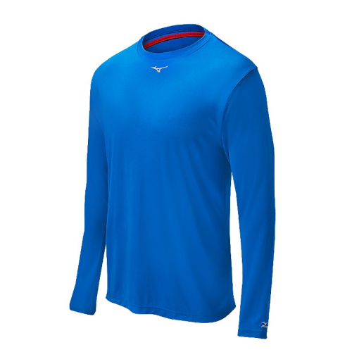 Mizuno Men's Comp Long Sleeve Crew- Royal