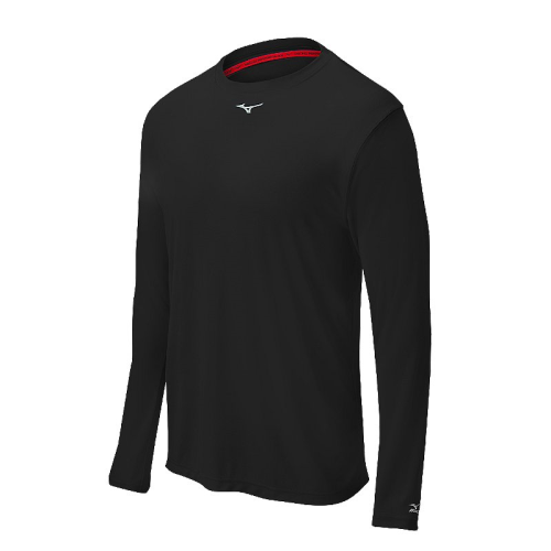Mizuno Men's Comp Long Sleeve Crew- Black