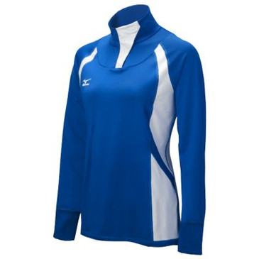 Mizuno Women's Drive 1/2 Zip Jacket- Royal/White