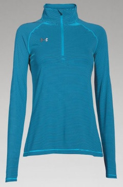 UA Novelty Tech 1/4 Zip- Teal Front