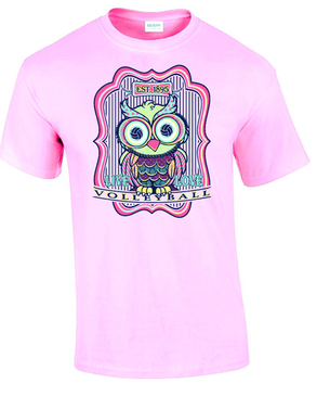 Volleyball Owl- Light Pink