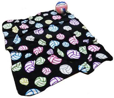 Multi-Color Volleyball Fleece Blanket