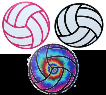 Round Volleyball Magnet