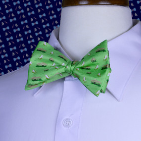 The Tiki Lounge Bow Tie - Green