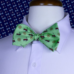 Wagon Wheel Bow Tie - Green