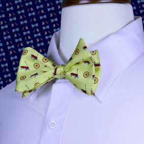 Wagon Wheel Bow Tie - Yellow