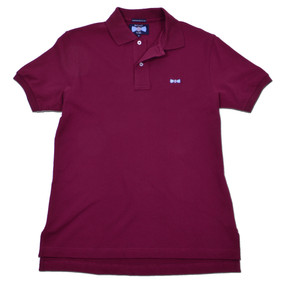 Men's Classic Boat Tie Polo Shirt - Burgundy
