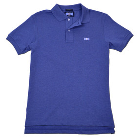 Men's Classic Boat Tie Polo Shirt - Heather Blue