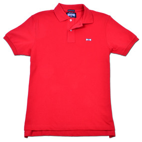 Men's Classic Boat Tie Polo Shirt - Red
