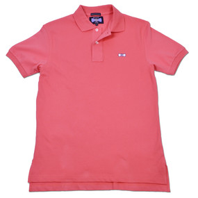 Men's Classic Boat Tie Polo Shirt - Salmon