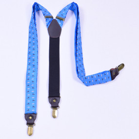 Fly Fishing Suspenders - Light Blue