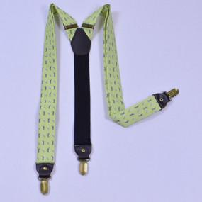 Tee Time Suspenders - Yellow