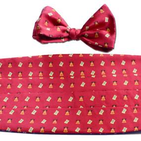 Bell of Rights Cummerbund & Bow Tie Set - Red