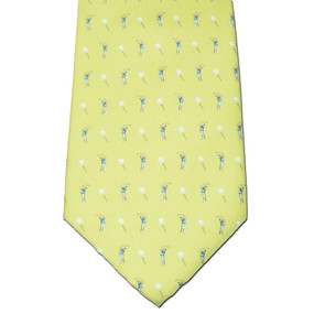 Tee Time Tie - Yellow
