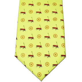 Wagon Wheel Tie - Yellow