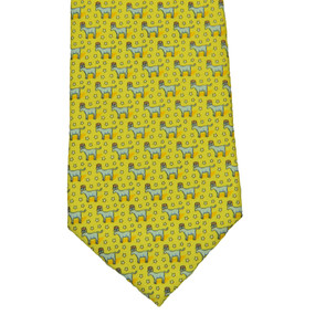 Vineyard Vines Political Democrat Donkey Neck Tie - Yellow