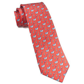 Southern Tide Marlin Frenzy Neck Tie - Washed Red