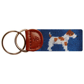 Smathers and Branson Jack Russell Terrier Key Fob - Blue