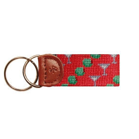 Smathers and Branson Martinis & Olives Key Fob - Salmon