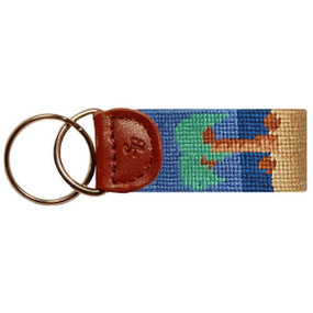 Smathers and Branson Palm Tree Key Fob - Sand