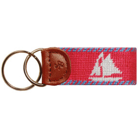 Smathers and Branson Tall Ships Key Fob - Salmon